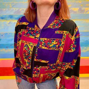 Vintage 80s Abstract Lightweight Jacket